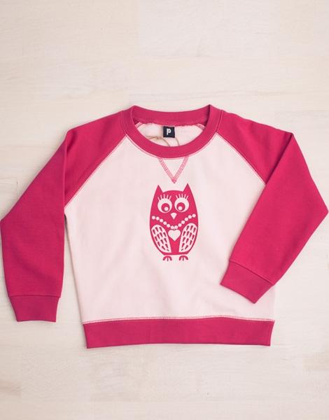Eule Jacqueline - WRAP zert. Sweater - Weiß/Pink
