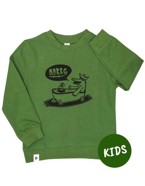 Kriss Krokodil - Kinder Bio Sweater - Organic Cotton - Grün