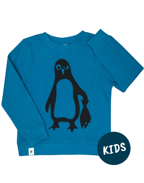 Pinguin Paul - Kinder Bio Sweater - Organic Cotton - Blau