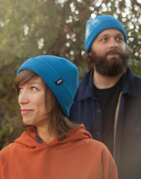 päfjes - Fair gehandelte Mütze - Blau