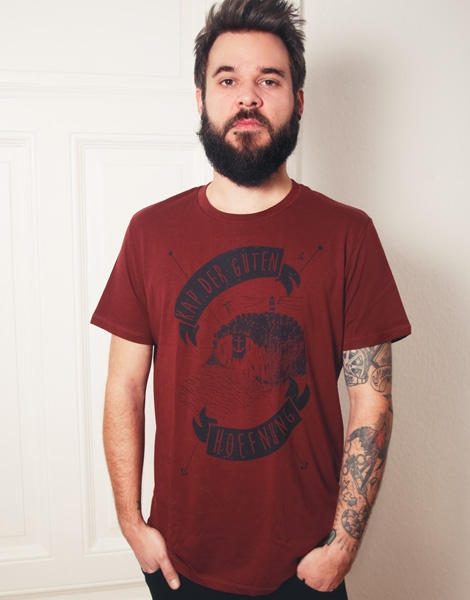 Kap der guten Hoffnung - Fair Wear T-Shirt - Bordeaux