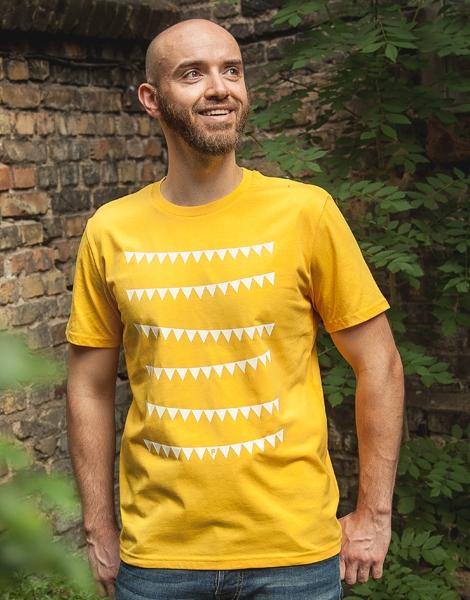 Wimpelketten - Fair Wear Männer T-Shirt - Gelb