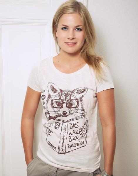 Willy Waschbär - Fair Wear Frauen T-Shirt - Vintage White