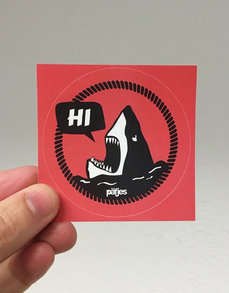 Hi Hai Haidrun - Sticker 5er Set - Rot