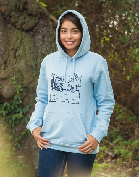 Fuchs & Hase - Unisex Fair Wear Hoodie - Skyblue