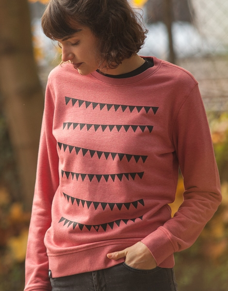Wimpelkette - Unisex Fair Wear Sweater - Heather Cranberry