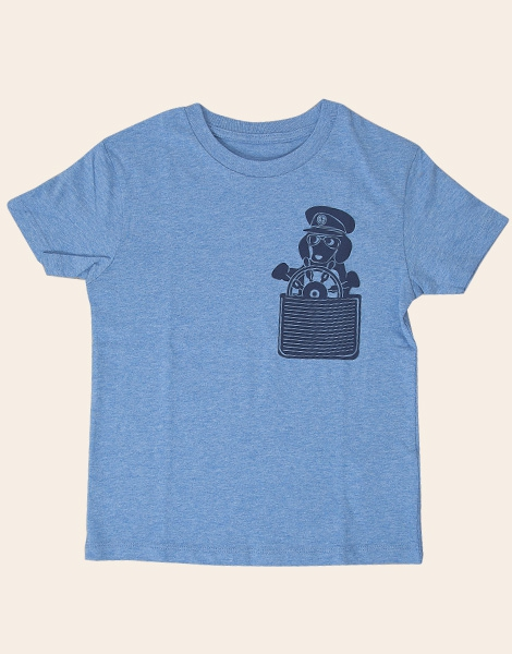 Der Dackelkapitän - Fair Wear T-Shirt - Heather Blue