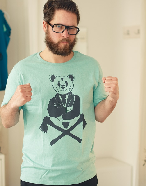 Bruno Bär - Fair Wear T-Shirt - Heather Mint
