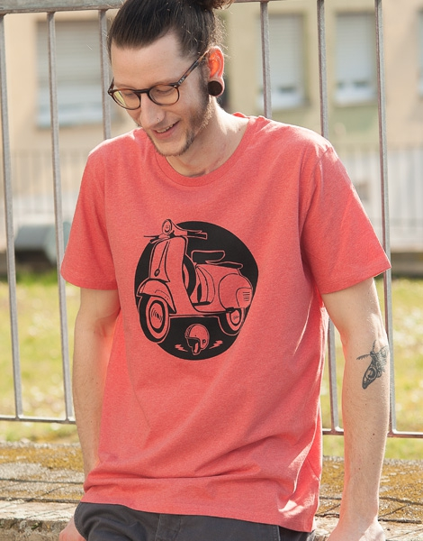 Schaltroller - Fair Wear T-Shirt - Heather Red