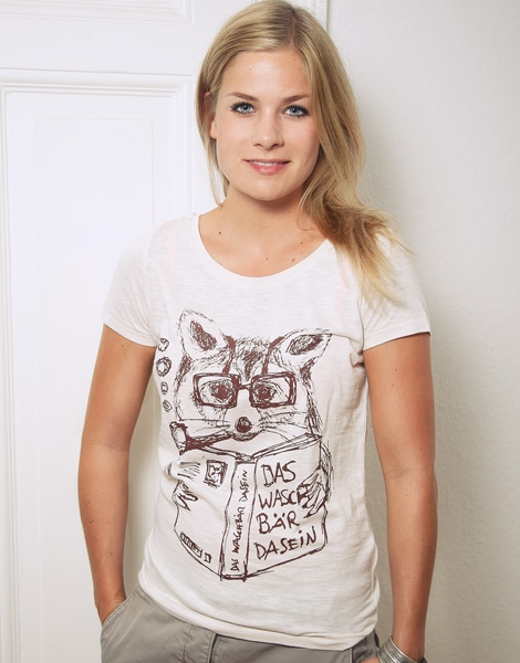 Willy Waschbär - Fair Wear Frauen T-Shirt - Vintage White