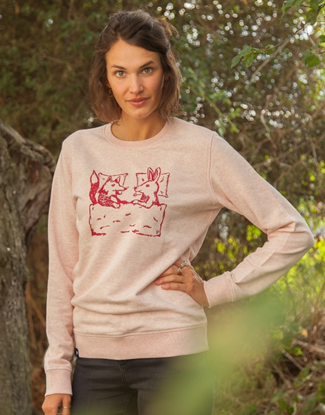 Fuchs & Hase - Unisex Fair Wear Sweater - Rosa