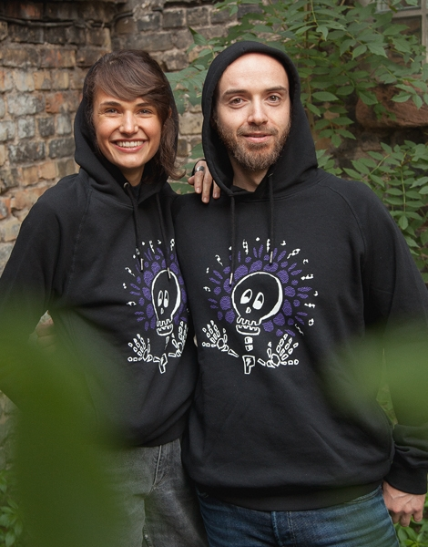 Sugar Skull - Unisex Fair Wear Hoodie - Black