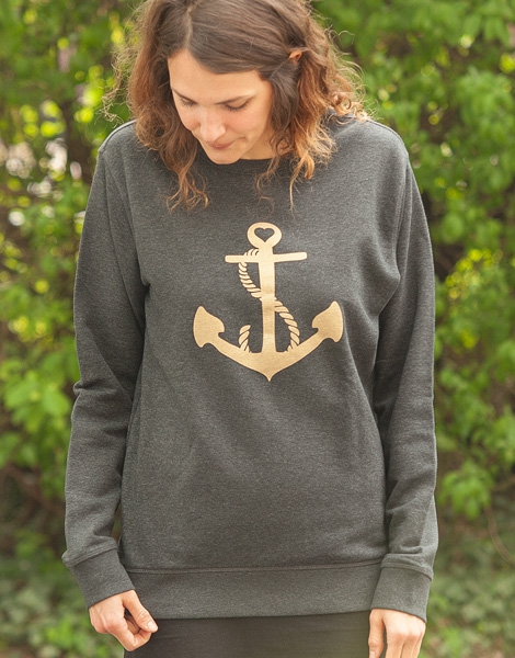 Ankerherz Gold - Unisex Fair Wear Sweater - Dark Heather Grey