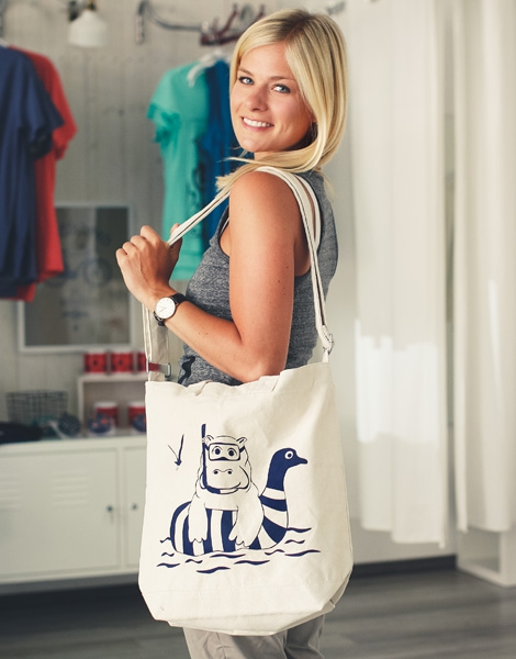 Nelly Nilpferd - Day Bag - Natur
