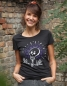 Preview: Sugar Skull Halloween - Fair Wear Frauen T-Shirt - Black