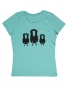 Preview: 3 Schafe auf der Wiese - Fair Wear Frauen T-Shirt - Mintgreen
