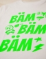 Preview: BÄM BÄM BÄM -  Fair Wear T-Shirt - Weiß/NeonGrün