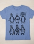 Preview: YMCA - Pinguine - Fair Wear T-Shirt - Heather Blue