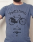 Preview: Radfahren ist schön - Fair Wear T-Shirt - Dark Heather Blue