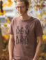 Preview: YMCA Pinguine - Fair Wear Männer T-Shirt - DarkCranberry