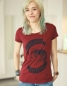 Mobile Preview: Kap der guten Hoffnung - Fair Wear Frauen T-Shirt - Bordeaux