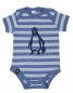 Preview: Baby Body - Pinguin Paul - Blau Stripes