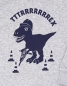 Preview: Theo Tttrrrrex der Bauarbeiter Dino - Fair Wear Kinder Sweater - Grau/Blau
