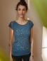 Preview: Konfetti V2 - Fair gehandeltes Tencel Frauen T-Shirt - Doveblue