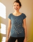 Mobile Preview: Konfetti V2 - Fair gehandeltes Tencel Frauen T-Shirt - Doveblue