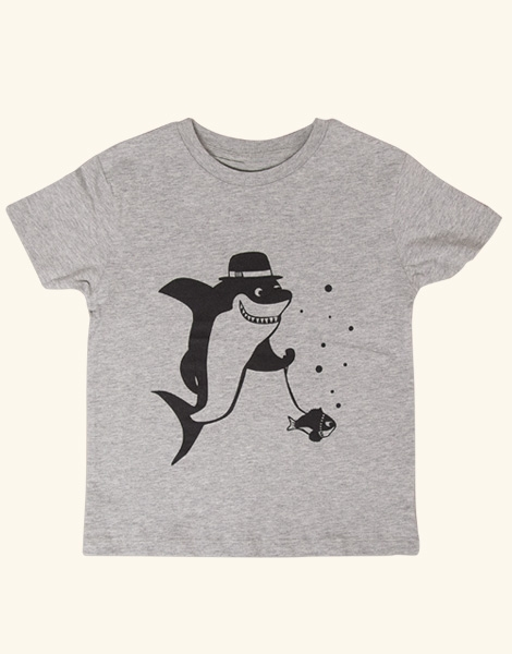 El Sharko & Brummel Boris - Fair Wear T-Shirt - Heather Gray