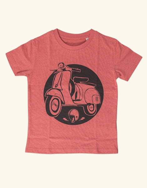Schaltroller - Fair Wear Kinder T-Shirt - Heather Red