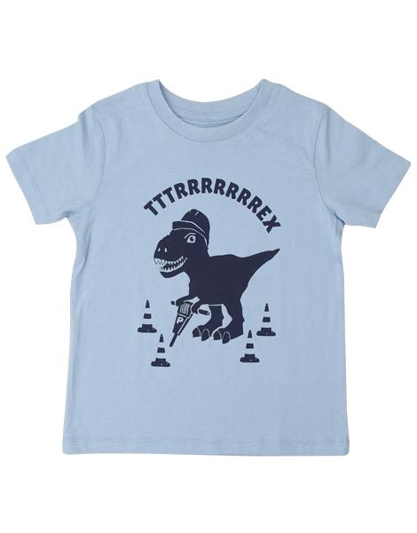 5056f81e9e9f58 Theo Tttrrrrex der Bauarbeiter Dino - Fair Wear Kinder T-Shirt - Hellblau
