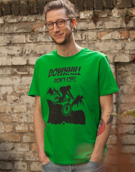 Downhill don't chill - Fair Wear Männer T-Shirt - FreshGreen