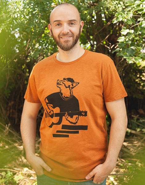 Frank Fuchs - Fair gehandeltes Männer T-Shirt - Slub Orange