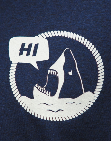 Hi Hai Haidrun - Fair Wear Männer T-Shirt - Heather BlackBlue