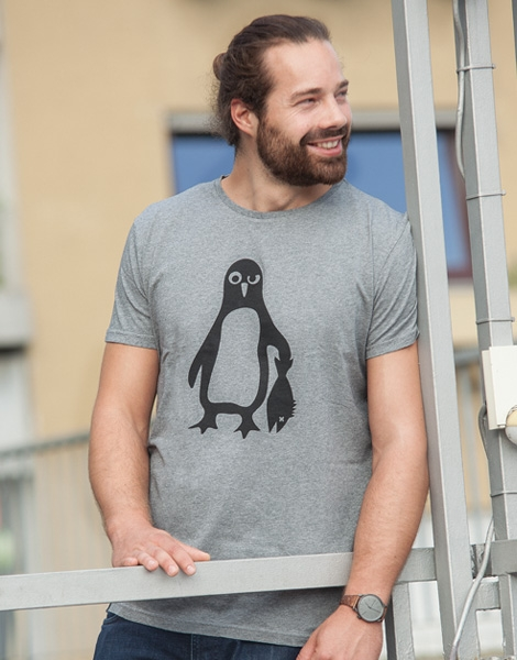Pinguin Paul - Fair Wear T-Shirt - Heather Grey