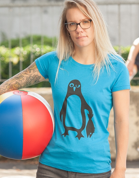Pinguin Paul - Fair Wear Frauen T-Shirt - Azur