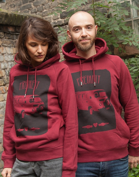Freiheit - Unisex Fair Wear Hoodie - Bordeaux