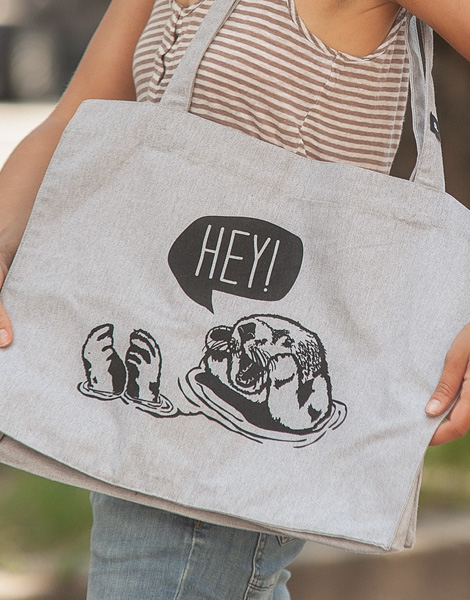 Hey Oskar Otter - Fair Wear Shopper - Heather Grey