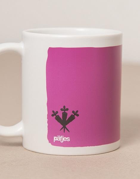 Guten Morgen Hase Tasse Lilapink