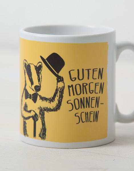 Guten Morgen Sonnenschein Tasse Gelb