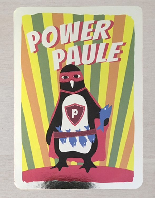 Power Paule Magic Card - Postkarte - Silber