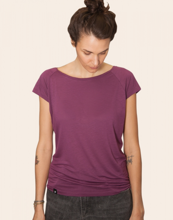 Lola Blanko V2 - Basic Tencel Frauen T-Shirt - PurpleLila