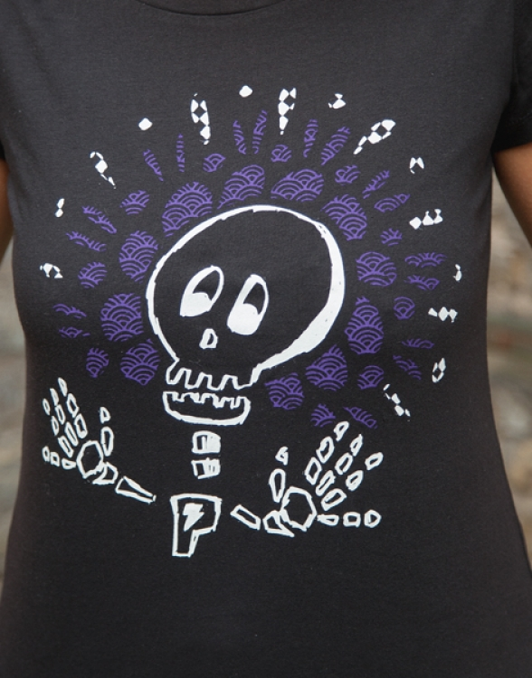 Sugar Skull Halloween - Fair Wear Frauen T-Shirt - Black