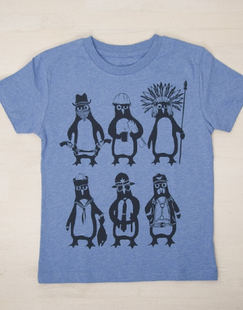YMCA - Pinguine - Fair Wear T-Shirt - Heather Blue