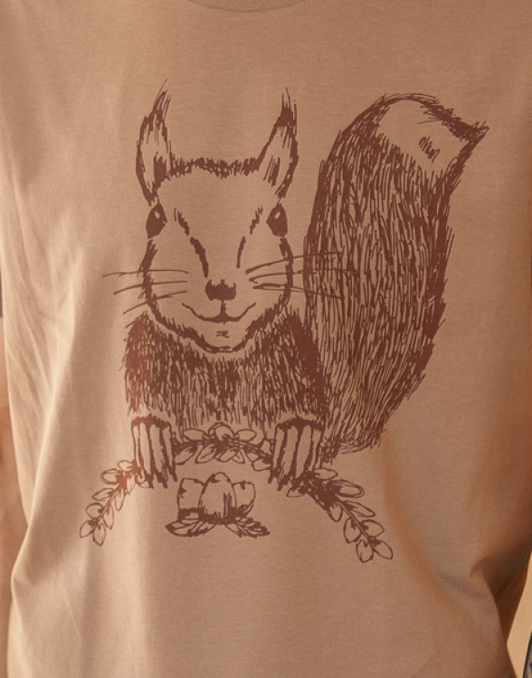 Ella Eichhorn / Squirrel - Fair Wear Männer T-Shirt - Walnutbrown