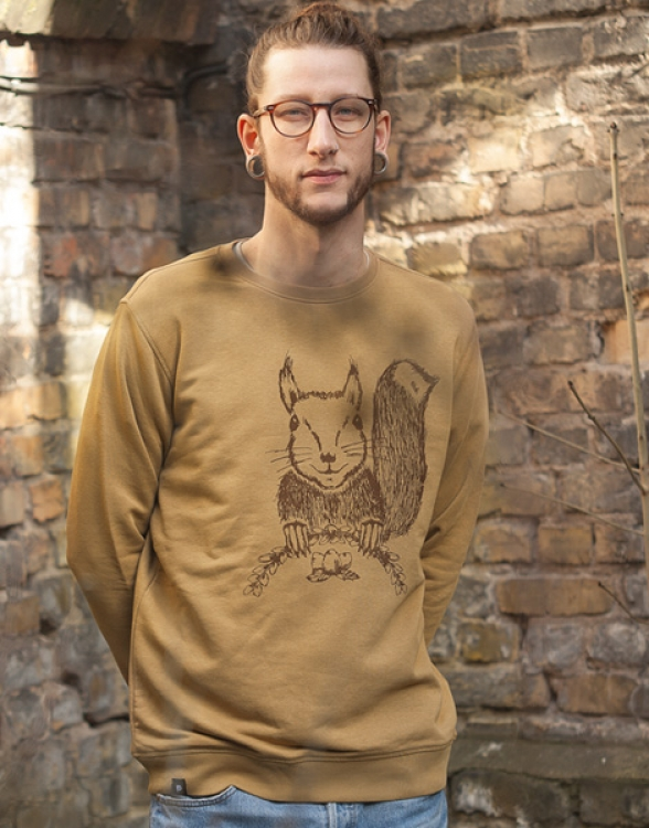 Ella Eichhorn / Squirrel - Fair Wear Unisex Sweater - Camelbrown