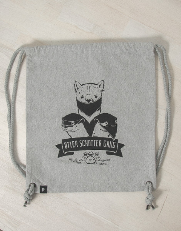 Otter Schotter Gang - Fair Wear Turnbeutel - Grau